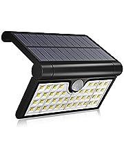 Luz Solar 42 LED, WINSUNY Foco Solar LED Exterior 3 Modos Plegable Lámparas de Pared IP65 Impermeable Luz de solar con sensor de movimiento, Ideal para Aire Libre, Jardín, Camino, Patio, Garage, Escaleras y Pasillos