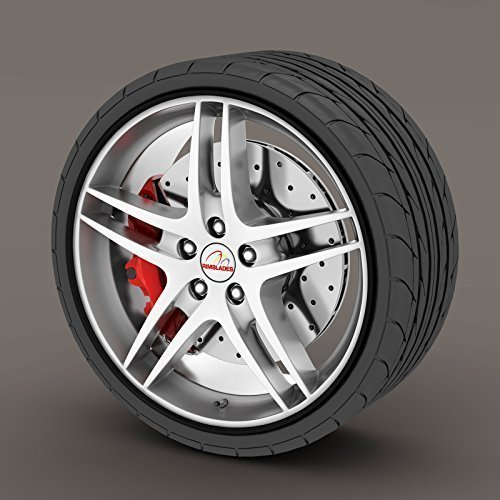 Citroen DS3 Black Rimblades Alloy Wheel Edge Ring Rim Protectors Tyres Tire Guard Rubber Moulding