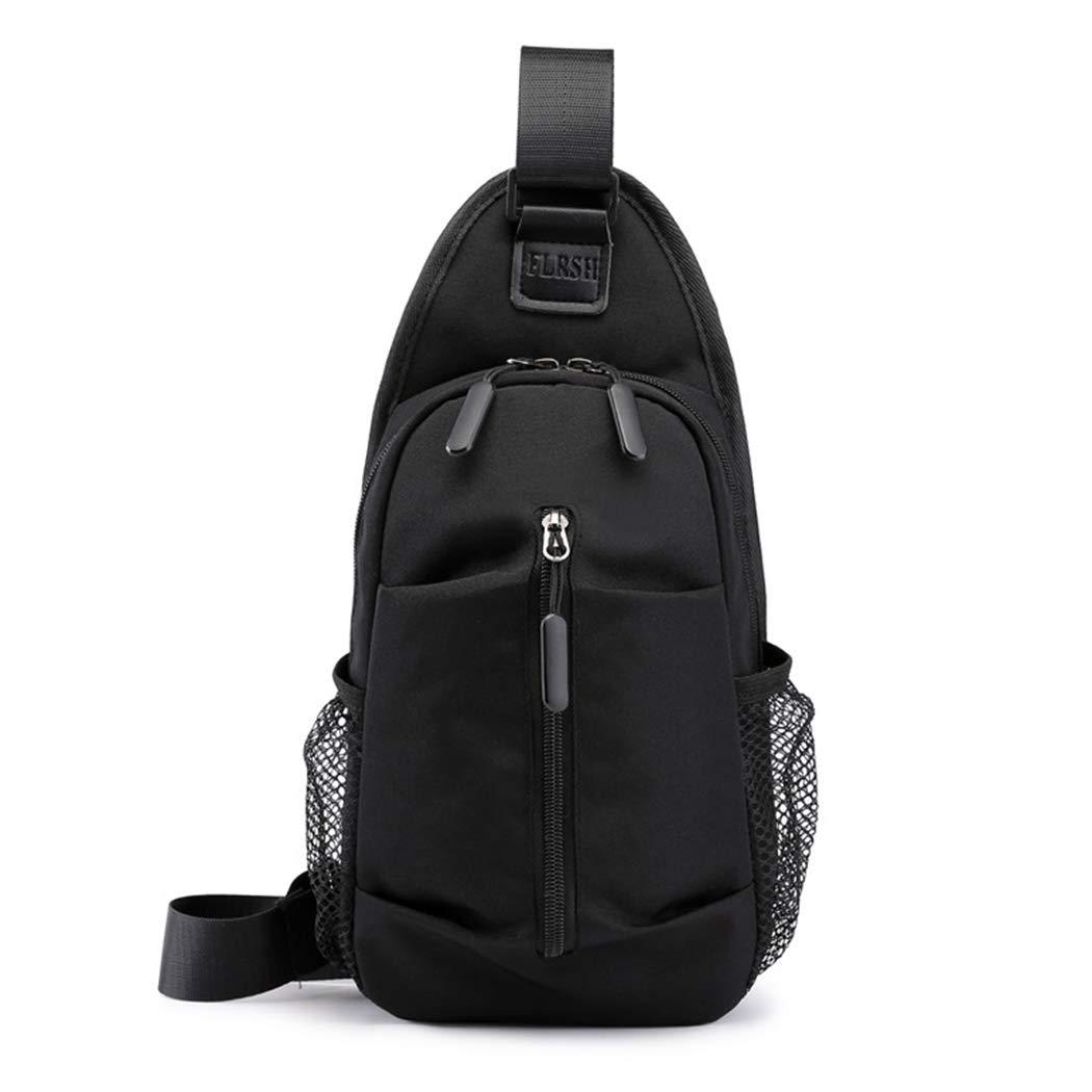 Mens Chest Bag Shoulder Bag Shoulder Bag Messenger Bag Oxford Cloth Chest Bag Outdoor Sports and Leisure