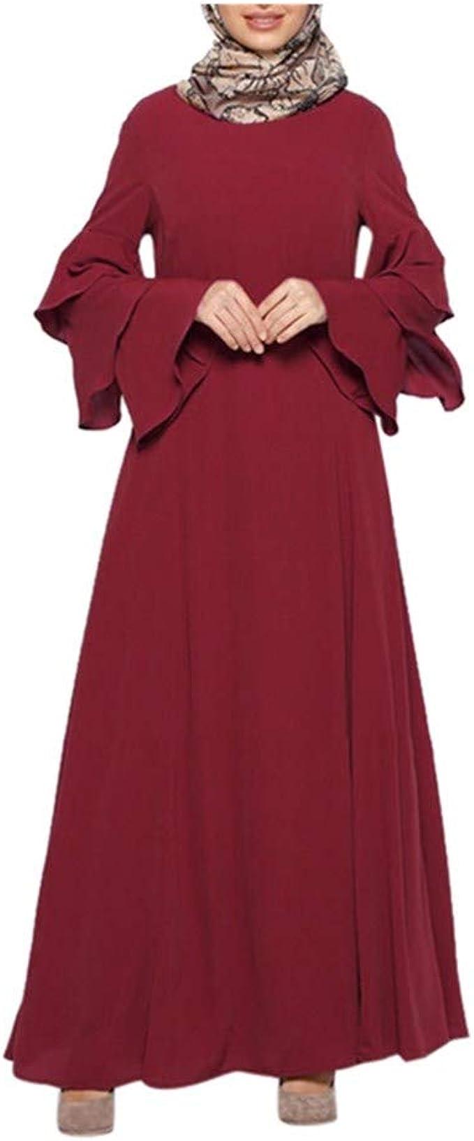 MERICAL Moda Casual Mujeres Musulmanas Sueltas Color ...