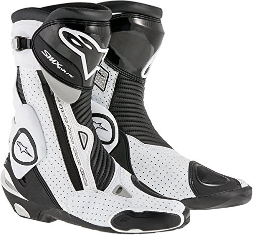 Alpinestars Men's SMX Plus Vented Boot (Black/White, Size EU 42)