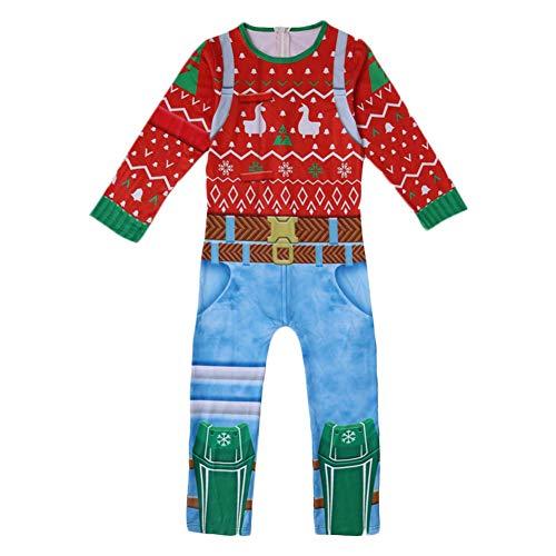 ValorSoul Kids Pajamas Costume Halloween Christmas Cosplay Costume Jumpsuit