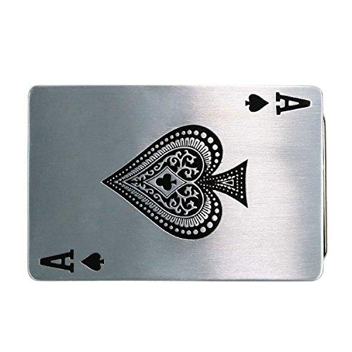 Landisun Handmade Poker Spade A Belt - Spade Buckle