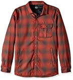 Quiksilver Men's Wildcard Riding Snowboard Ski Reversible Flannel Shirt, Grape Leaf, XS