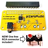 Audio DAC HAT Sound Card (AUDIO+) for Raspberry Pi Zero / A+ / B+ / Pi 2 : Pi 3 Model B / Better quality than USB
