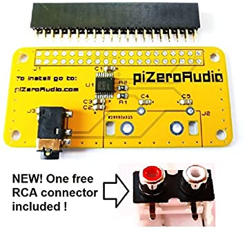 Amazon Com Audio Dac Hat Sound Card Audio For Raspberry Pi Zero