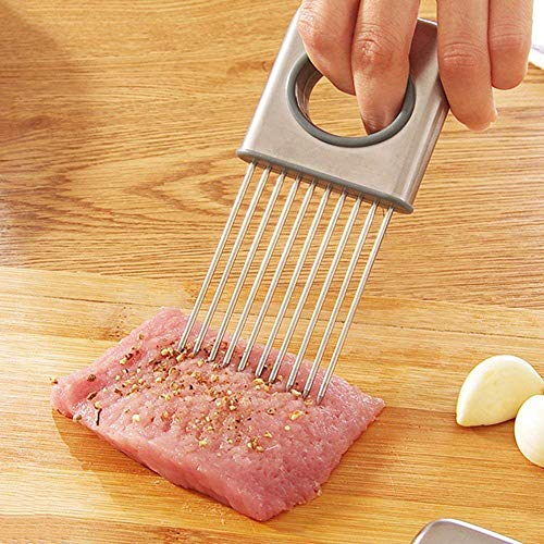 Baskety Easy Onion Holder Slicer Vegetable Tools Tomato Cutter Stainless Steel Kitchen Gadgets