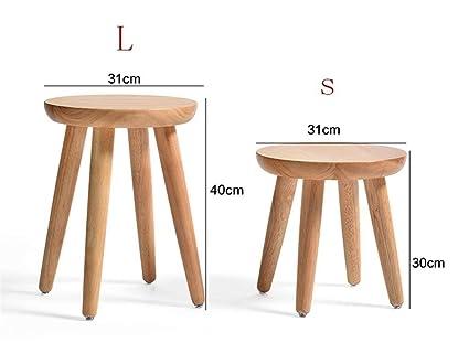 Sgabello In Legno Design : Willsego sgabello da tavolo rotondo in legno massello creativo