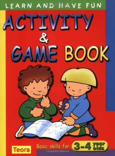 activity and game book basic skills for 3 4 years old learn and have fun caramel 9781594960307 amazoncom books