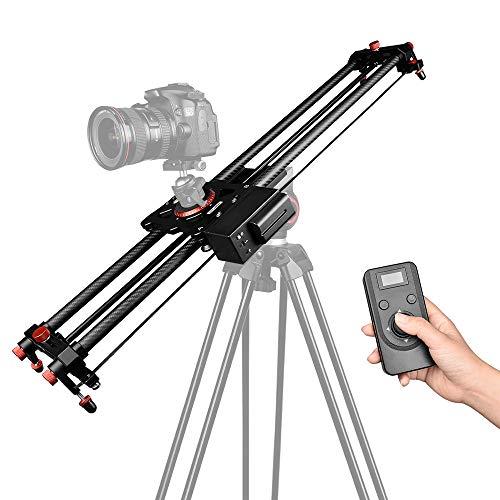 Track Slider, Docooler 80cm/31.5-inch Track Slider 2.4G Wireless Control Video Track Slider Smooth Focus with Remote Control F550 Lithium Battery for DSLR ILDC Cameras Camcorders