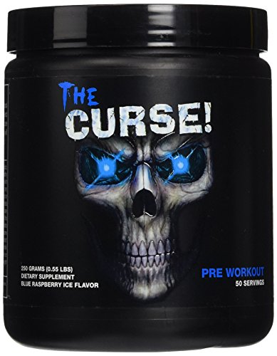 Cobra Labs The Curse Pre-Workout Supplement Blue Raspberry Ice, 50 Servings, 0.55 Pound ()