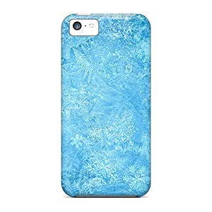 Cases Covers For Iphone 5c Strong Protect Cases - Frozen Ice Snowflake Macro Design