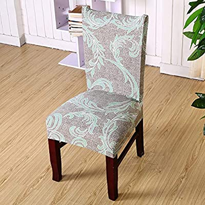 Aland Flower Printed Removable Elastic Slipcover Weddings Banquet Hotel Chair Cover 6# : Garden & Outdoor