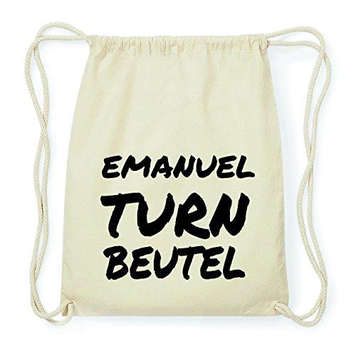 JOllify EMANUEL Hipster Turnbeutel Tasche Rucksack aus Baumwolle - Farbe: natur Design: Turnbeutel