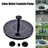Solar Powered Water Pump Fountain Submersible Birdbath Outdoor Home Garden