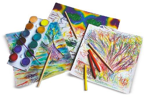 Melissa & Doug Scratch Art Paper, Rainbow on White, 50 Sheets