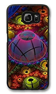 abstract Polycarbonate Hard Case Cover for Samsung S6/Samsung Galaxy S6 Black wangjiang maoyi