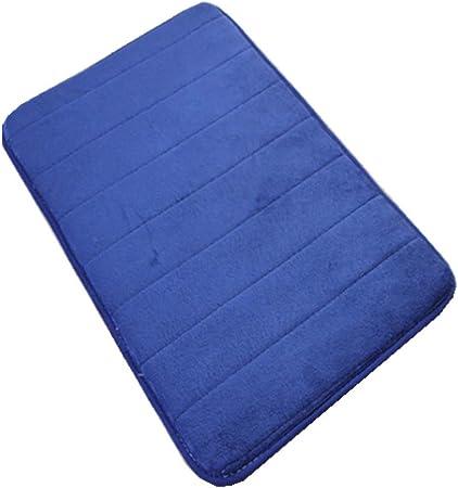 LiGG Tapis de Bain antidérapant en Mousse à mémoire de Forme pour Salle de  Bain, Microfibre (Bleu Marine, 40 x 60 cm)