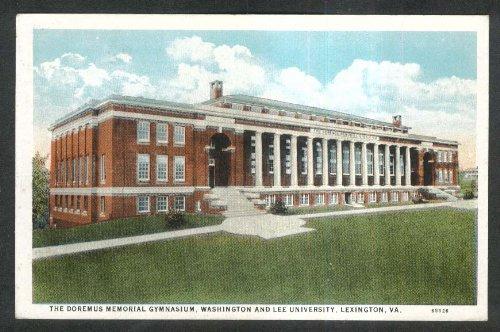 Doremus Memorial Gymnasium Washington Lee University Lexington VA postcard 1910s from The Jumping Frog