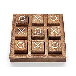Tic Tac Toe Game for Kids and Family Board Games 3D Travel of Living Room Decor and Coffee Top Table Games Decor Family Games Night Classic Board TicTacToe