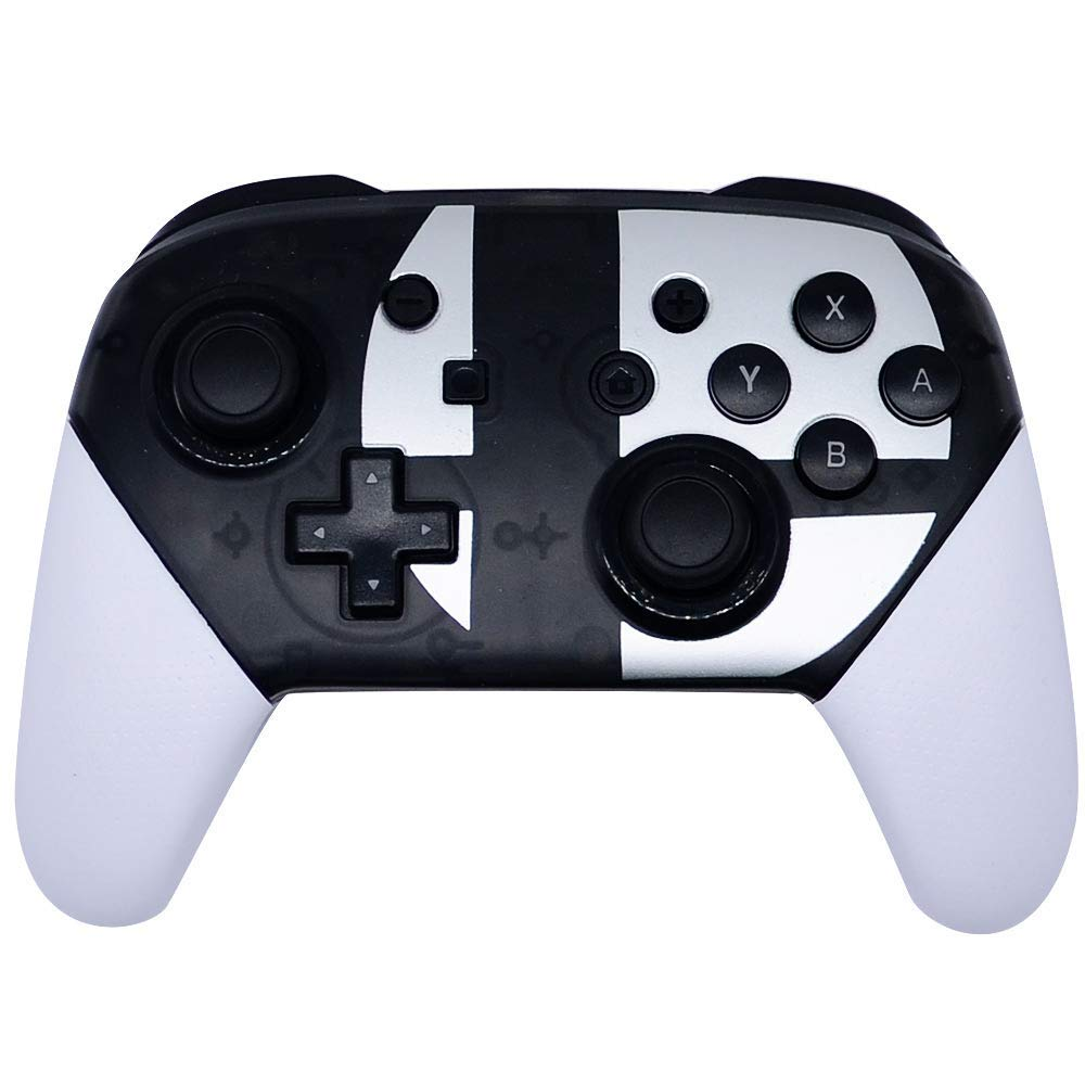 Wireless Controller for Nintendo Switch Pro Support Gyro Axis Dual Shock (Black & White)