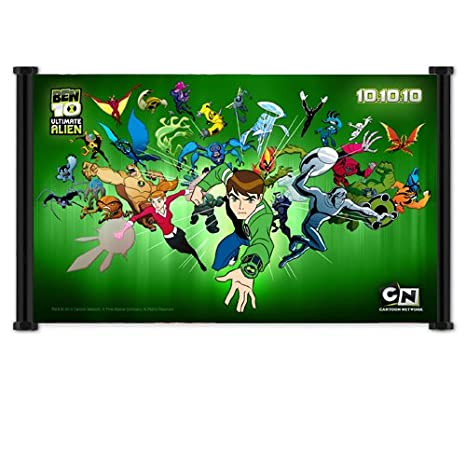 Amazon.com: Ben 10 Cartoon tela Wall Scroll Poster (26