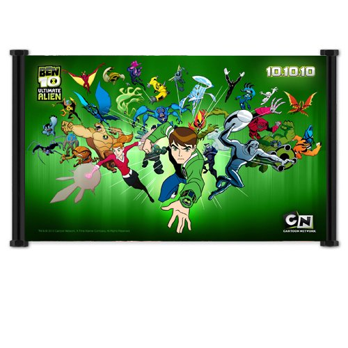 Ben 10 Cartoon Fabric Wall Scroll Poster (26