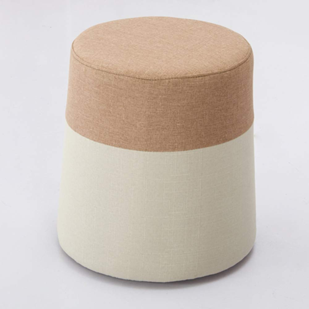 A LJJL Stool, Rainbow Stool Round Stool Fabric Sofa Bench Dressing Table Stool Suitable for Bedroom Living Room 2 color Removable and Washable 15  × 15.7  (color   B)