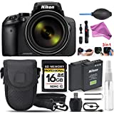 Nikon COOLPIX P900 Digital Camera Built-In Wi-Fi, NFC, and GPS + 16GB SDHC CLASS 10 Memory Card + Replacement Battery for Nikon EN-EL23 + High Speed Card Reader + Case + Free DigitalAndMore Bundle