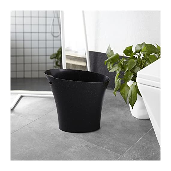 Umbra Skinny 4 FITS ALMOST ANYWHERE: A stylish trash can with a modern slim design that looks great and easily fits into narrow openings and odd spaces in your bathroom, bedroom or office CLEVER DESIGN: Despite its narrow profile, Skinny trash can hold up to 2 gallons and features an integrated handle for easy transport and disposal of contents making it an ideal trash can for bathroom DURABLE & EASY TO CLEAN: Made of super-strong polypropylene, Skinny trash cans are durable, easy to wipe clean with a damp cloth, and features a rounded bottom with no crevices for dirt, grime, or liquids to get trapped in