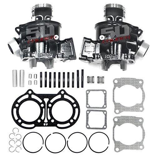 - 50 Caliber Racing Complete Top End Rebuild Cylinder Kit Stock Specs Replacement Kit for 1987-2006 Yamaha Banshee YFZ 350 YFZ350