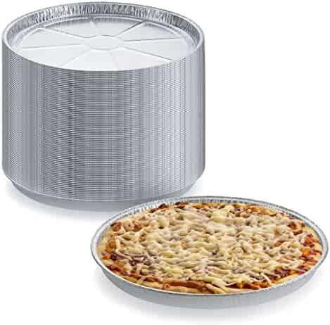 Pack of 12 Disposable Round Foil Pizza Pans – Durable Pizza Tray for Cookies, Cake, Focaccia and More – Size: 12-1/4
