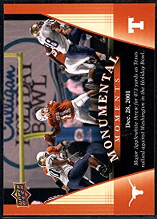 Football NFL 2011 Upper Deck University of Texas #92 Major Applewhite