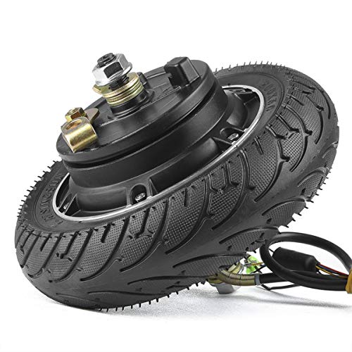 kun ray 8 Inch Electric Scooter Hub Motor 350W 24V 36V, Brushless Toothless Wheel Motor, with Airless Tire, for E-Scooter E-Bike Skateboard DIY Part (24V350W) (Scooter Conversion Kit)