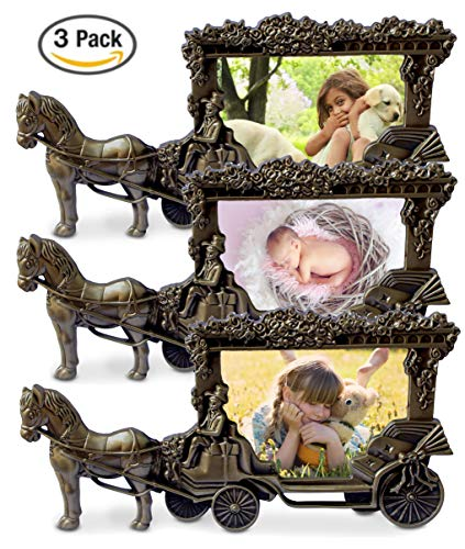 (Olivery Horse Carriage Photo Frame - 3.5