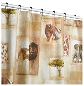 Amazon.com: Martex Serengeti Animal Print Shower Curtain: Home u0026 Kitchen