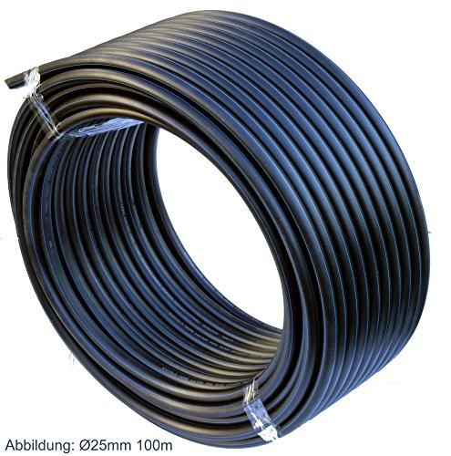 PE-HD-Rohr-Wasserrohr-Wasser-Leitung-Kunststoffrohr-Bewsserung-Wasser-Rohre-schwarz