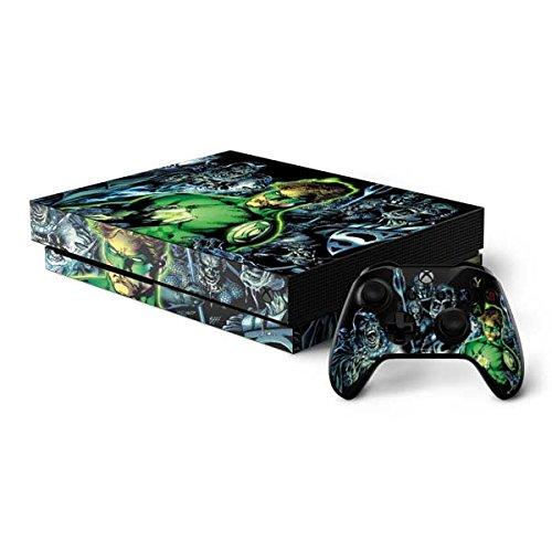 Green Lantern Xbox One X Bundle Skin - Green Lantern and Villains | DC Comics & Skinit Skin (Green Lantern Video Game Xbox)