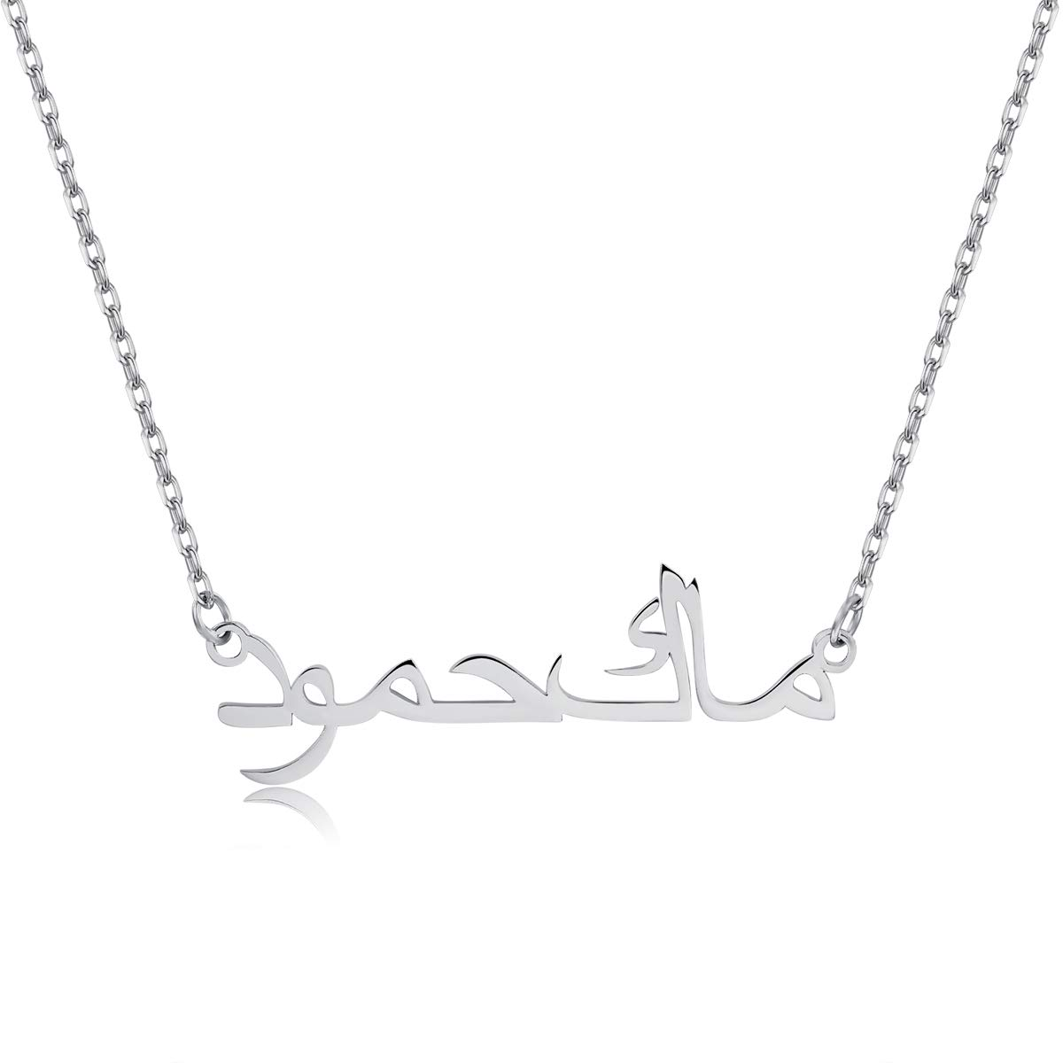 Dreamdecor Arabic Name Necklace Personalized, Sterling Silver Custom Name Necklace for Christmas DR-004-3