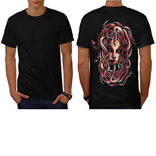 Medusa Queen Snake Viper Hair Men NEW M T-shirt Back | Wellcoda (Voodoo Queen Costume)