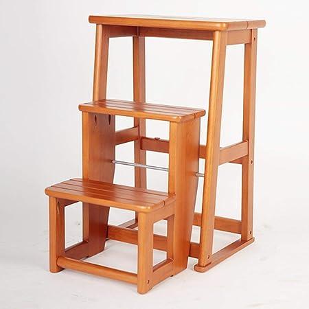 Taburete de escalera de madera de 3 peldaños, Escalera plegable Reposapiés Muebles de cama antideslizantes para niños Escalera de seguridad para herramientas de cocina, 40 * 24 * 60.5cm (Color: B): Amazon.es: Hogar