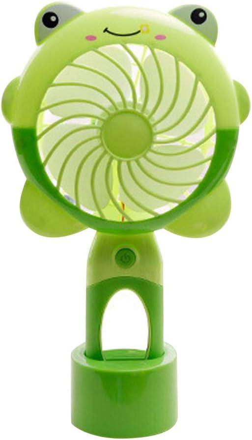 Dicomi Ventilador de Mano Recargable Ventilador USB Mini operación Ventilador de Mano Luz portátil (Verde)