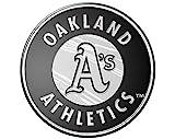 Team ProMark Oakland A's Athletics CE Silver Chrome Color Raised Die Cut Auto Emblem Decal Baseball