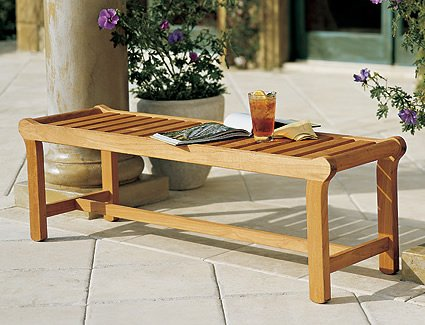 "WholesaleTeakFurniture New Grade A Teak Wood Luxurious Outdoor Garden 55"" Revni Backless Bench #WFBHBL"