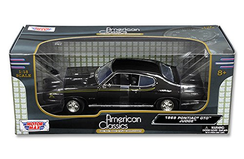 New 1 18 W B Motor Max American Classics Collection   Black 1969 Pontiac Gto Judge Diecast Model Car By Motor Max