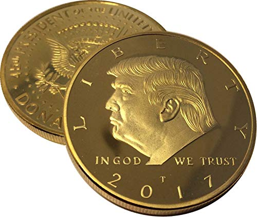 Donald Trump Gold Coin, Gold Plated Collectable Coin and Case Included, 45th President, Certificate of Authenticity…
