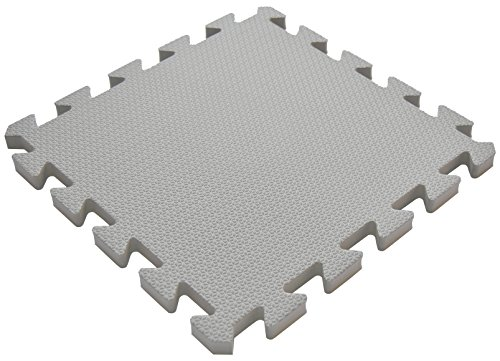 36 Pieces Non-Toxic Waterproof Foam Wonder Mats Non-Recycled Quality Extra Thick 12 X 12 X 9 16 Gray