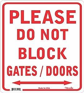 No bloque puerta signo