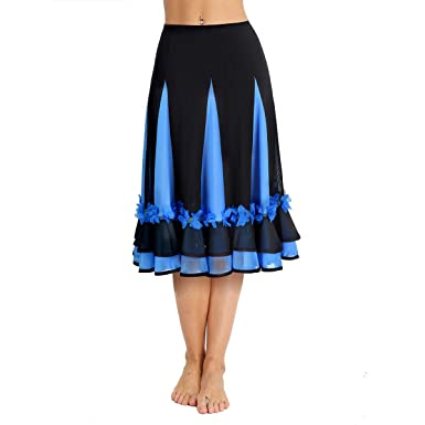 CHICTRY Falda Larga de Flamenca Danza para Mujer Chica ...