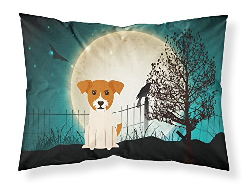 Caroline's Treasures Halloween Scary Jack Russell Terrier Fabric Standard Pillowcase BB2298PILLOWCASE,